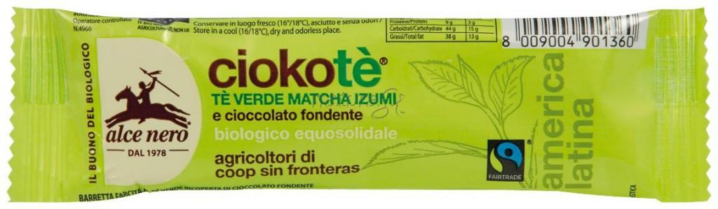 Barretta al The Verde Matcha e pregiato cioccolato fondente della Costa Rica, circa 2 euro e 40 (Spring beauty secrets) [http://shop.naturasi.it/media/catalog/product/cache/14/image/186f6c1e8cf6b88109aeb31799858d2b/c/i/ciote033.jpg]