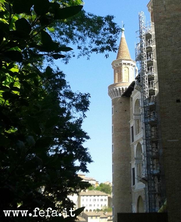 Uno scorcio del Palazzo Ducale, con i suoi Torricini - Urbino