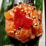 Y A S smookysalmon tartare sushitime sushi meal onthetable spicyhellip