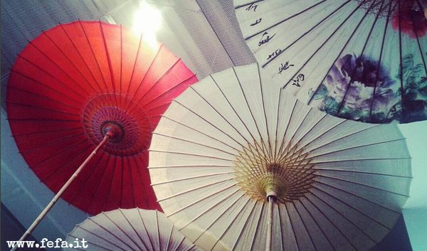 Traditional japanes umbrella, made from bamboo and washi ♥